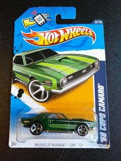 382d673331 Hot Wheels 68 COPO Camaro Diecast Car
