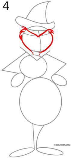 How to Draw the Grinch (Step by Step Pictures) | Cool2bKids