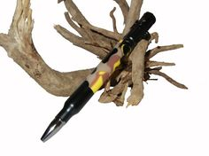 Handcrafted Bullet Bolt Action Pen with Rifle Clip by craftcrazy4u
