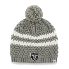 Oakland Raiders Kendall Beanie Steel Grey 47 Brand Womens Hat