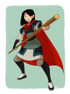Mulan in Shang's clothes
