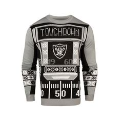 e6e4e9756ef Officially Licensed NFL Light-Up LED Ugly Sweater by Forever Collectibles  Oakland Raiders Oakland Raiders
