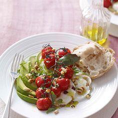 Tomato, mozzarella and avocado salad
