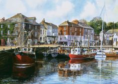 """Some people think of the farthest away places as Spitzbergen or Honolulu. But give me Padstow…For Padstow is in Cornwall and Cornwall . Devon And Cornwall, Cornwall England, Great Places, Places To See, Beautiful Places, St Just, Holidays In Cornwall, Cross Stitch Landscape, Roadtrip"