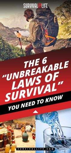 """The 6 """"Unbreakable Laws of Survival"""" You Need To Know"""