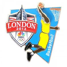 2012 #Olympics NBC #Basketball Pin.  This exclusive 2012 Olympics NBC Basketball Olympic Basketball, Basketball Posters, Olympic Games, Team Usa, Summer Olympics, London, Lapel Pins, Athletes, Design