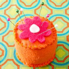 Precious Pincushion - there are a couple other super cute beginning sewing projects for kids here as well