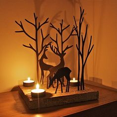 Christmas Reindeer Triple T Light Decoration-Just the picture but looks like you could make it.