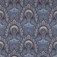 Superb ocean paisley decorator fabric by Kravet. Item PACIFICO.615.0. Low prices and fast free shipping on Kravet fabric. Search thousands of patterns. Only 1st Quality. Width 54 inches. Sold by the yard.