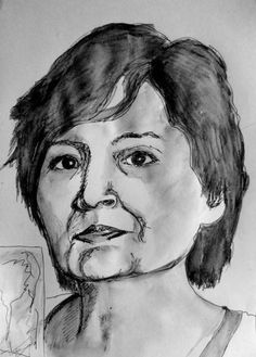 by artist Mary Helena  and excellent artist who really captured my wrinkles!