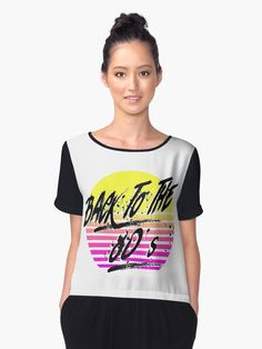 Back To The 80's, Tees For Women, Chiffon Tops, Woman, Unique, Fashion, Sleeveless Tops, Women's T Shirts, Curve Dresses