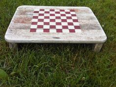 Cabin Decor, Lake house decor, Primitive Rustic - Checkers Game Board Tray- Reclaimed driftwood repurposed tray. $34.99, via Etsy.