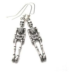 Gothic Skeleton Dangle Earrings Vamps Jewelry Gothic Victorian Jewelry (130 ARS) ❤ liked on Polyvore featuring jewelry, earrings, goth jewelry, gothic victorian jewelry, dangle earrings, long earrings and victorian jewelry