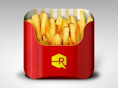Dribbble - Fries App iOS Icon by Ryan Ford