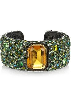 kenneth jay lane swarovski crystal cuff via net-a-porter.com