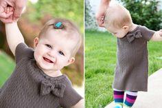 Детское платье из маминого свитера