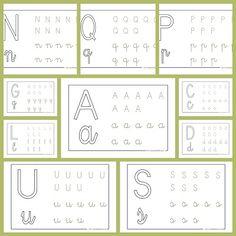 Para trabajar las distintas letras del abecedario e iniciarse en la direccionalidad de las letras.