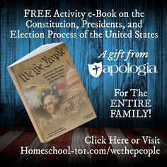 FREE from Apologia: We the People - An Activity e-Book on the Constitution, Presidents, and Election Process of the United States - Homeschool Giveaways Homeschool Curriculum Reviews, Homeschooling, Election Process, Middle School Teachers, Free Activities, Middle School Science, Constitution, United States, Presidents