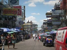 Backpackers district 'Khao san road', Thailand