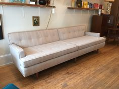 extra long 60's sofa - gorgeous and in great shape Sofa, Couch, Annie, Home Goods, Shape, Furniture, Home Decor, Settee, Settee
