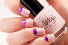 Pahlish Fleur de Sel halfmoon nails