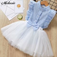 Girl Mesh Dress 2018 New Spring Dresses Children Clothing Princess Dress PinkWool Bow Design Years Girl Clothes DressChildren Summer Dress 2019 Casual Style Girls O-Neck Clothing Set White Lace T-shirt+Skirt Girls Sleeveless Suits Kids Clothes* Soft Baby Girl Party Dresses, Toddler Girl Dresses, Girls Dresses, Infant Dresses, Short Dresses, Kids Outfits Girls, Girl Outfits, Dress Pattern Free, Vest Pattern