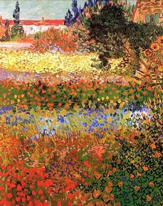 Flowering Garden - Vincent van Gogh - Created in Arles, France in July, 1888.