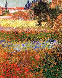 Flowering Garden - Vincent van Gogh - Created in Arles, France in July, 1888.
