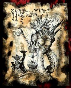 cthulhu larp DEMONS OF KADATH necronomicon spirits grimoire occult art magick #OutsiderArt