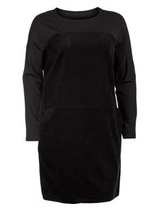Corduroy and jersey dress - Shop Dresses at navabi. Designer Fashion in sizes 12 to 28.