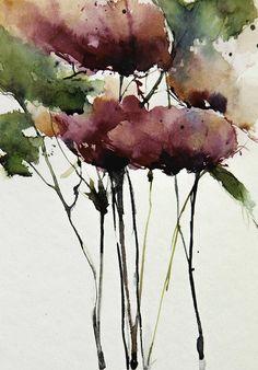 Wild Roses Painting by Annemiek Groenhout