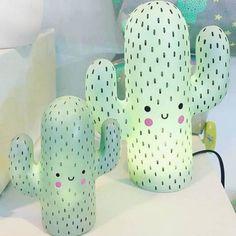 Set of Succulent Planter Sisters – Room Decoration İdeas – Cactus Deco Pastel, Pastel Mint, Lampe Cactus, Cactus Bedroom, Girls Bedroom, Bedroom Decor, Bedrooms, Wall Decor, Cactus Decor