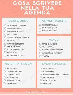 cosa scrivere nella tua agenda - Finance tips, saving money, budgeting planner