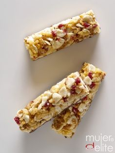 Barritas de cereales // Cereal bars, in spanish