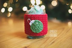 It's never too early or too late to craft for the holidays! Make some Mason Jar Christmas Cozies with Lion Brand Bonbons and this pattern by Sincerely Pam.
