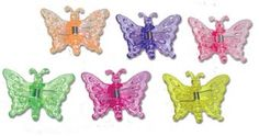 butterfly hair clips- had every kind in my hair daily in the 7th grade