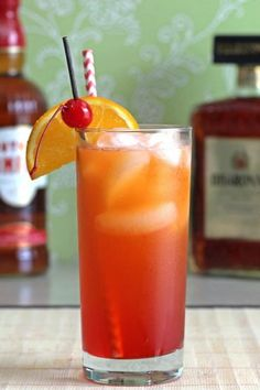 The Alabama Slammer cocktail classic with Southern Comfort. Get this drink recipe at http://mixthatdrink.com/alabama-slammer/