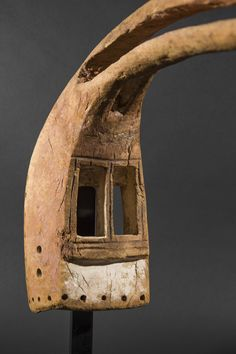 Dogon Mask  NOTE: Known for their powerful aggressive masks, the Salampasu people of the Kinshasha Congo would have used a mask like this in ceremonies for warrior initiation, circumcision, and funerals.