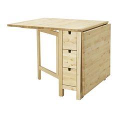 IKEA - NORDEN, Slagbord, Du kan oppbevare for eksempel bestikk, servietter og stearinlys i de 6 praktiske skuffene under bordplaten.Slagbord; gir plass til 2-4 personer og gjør det mulig å tilpasse bordets størrelse etter behov.Massivt tre er et slitesterkt naturlig materiale.