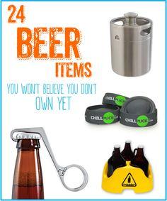 24 Beer Items You Must Own - http://www.kegerators.com/news/ingenious-beer-items.php