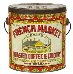 French Market Coffee Tin | Antique Advertising Value and Price Guide