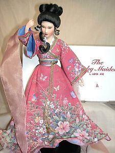 Danbury Mint Porcelain Doll Ruby Maiden by Artist Lena Liu Enchanted Maidens | eBay