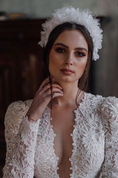 Bridal hairpiece tiara crown #bridetobe #wedding #bridalhair #hairpiece #tiara Bridal Hairpiece, Tiaras And Crowns, Bridal Accessories, Hair Pieces, Anastasia, Swarovski, Winter Hats, Wedding, Fashion