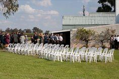 Ceremony setup outside
