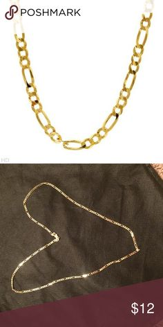 2mm chain necklace yellow gold plated 22 inches 2mm chain necklace yellow gold plated length 22 inches. Jewelry Necklaces