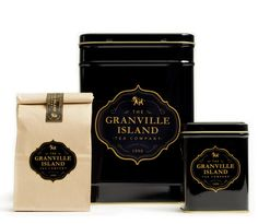 Packaging Design for Granville Island Tea Company. Design by arithmetic creative - Vancouver Coffee Packaging, Brand Packaging, Design Packaging, Matcha, Granville Island, Tea Companies, Tea Tins, Pretty Packaging, Packaging Design Inspiration