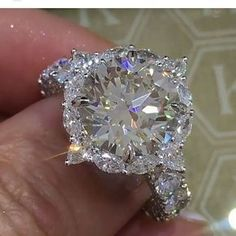 Fashion Jewelry Women 925 Silver 4.32Ct White Sapphire Engagement Wedding Ring