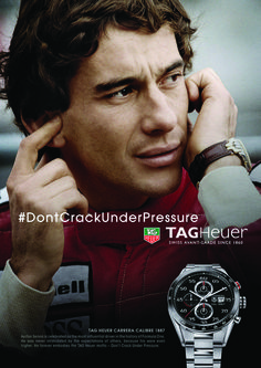 Ayrton Senna and TAG Heuer
