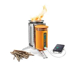 The BioLite Wood Burning Campstove Powers most USB-chargeable devices including smartphones $129.95 a great place to burn your power bills and parking tickets