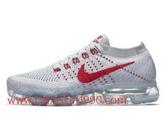official photos ad58e 93c68 Nike Wmns Air VaporMax Pure Platinum University Red 849557-060 Chaussures  Nike Prix Pas Cher